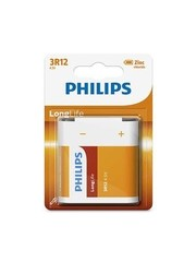 Philips Philips LongLife 3R12 Zinkchloride 4.5V Blok 1 Stuk Blister