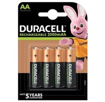 Duracell Duracell Oplaadbare HR06 NiMH AA 2500mAh 4 Stuks Blister
