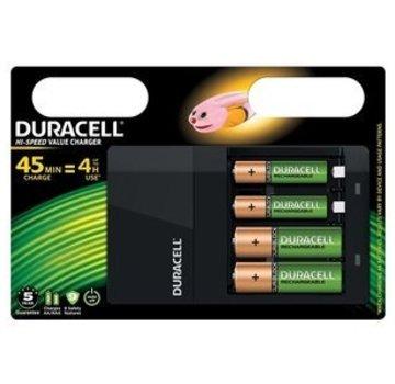 Duracell Duracell CEF14 Batterijlader Incl. 2xAA 1300mAh 2xAAA 750mAh