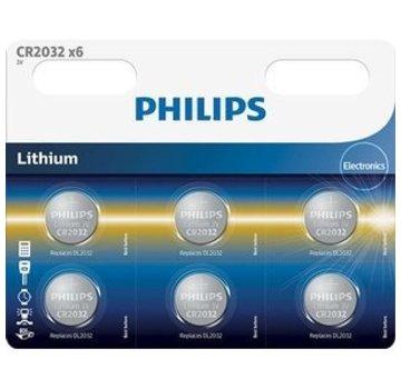 Philips Philips Electronics CR2032 Lithium Knoopcel 6 Stuks Blister
