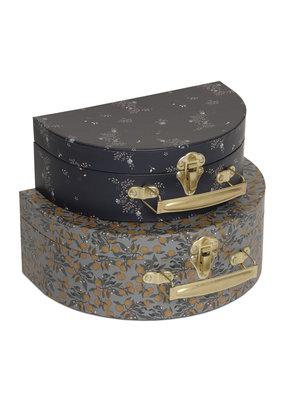 Konges Sløjd Konges Sløjd 2 Pack Koffers Rond Orangery Blue/Nostalgie Blue