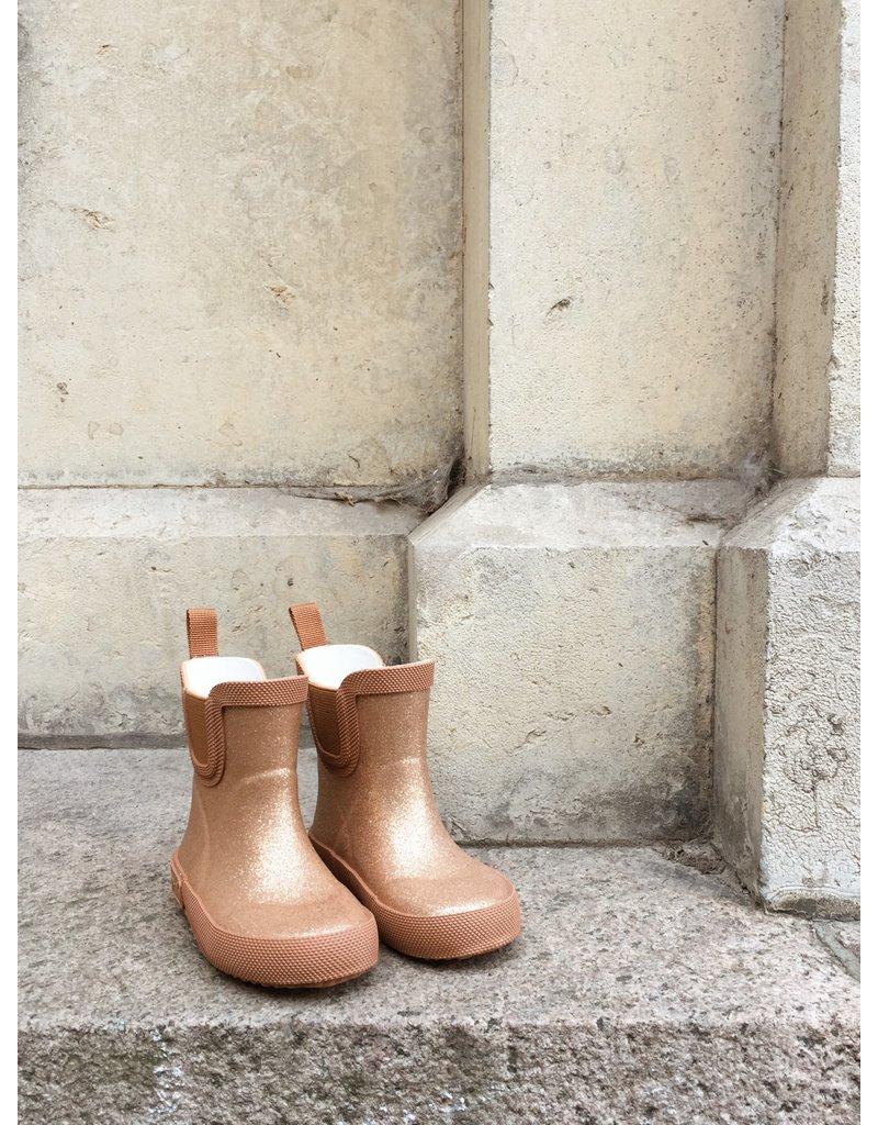 Konges Sløjd Konges Sløjd Welly Rubber Boots Glitter Tan