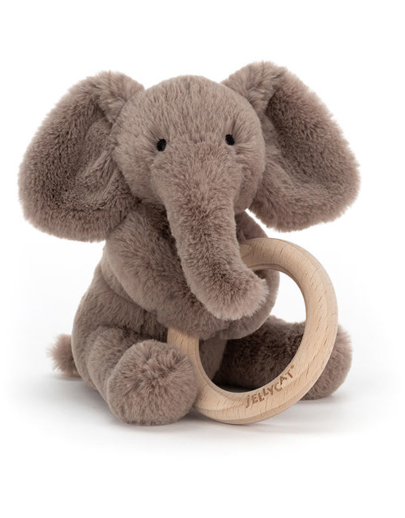 Jellycat Jellycat - Shooshu Elephant Wooden Ring Toy