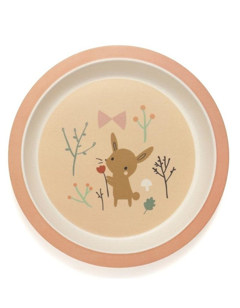 Petit Monkey Petit Monkey bamboe bord bunny
