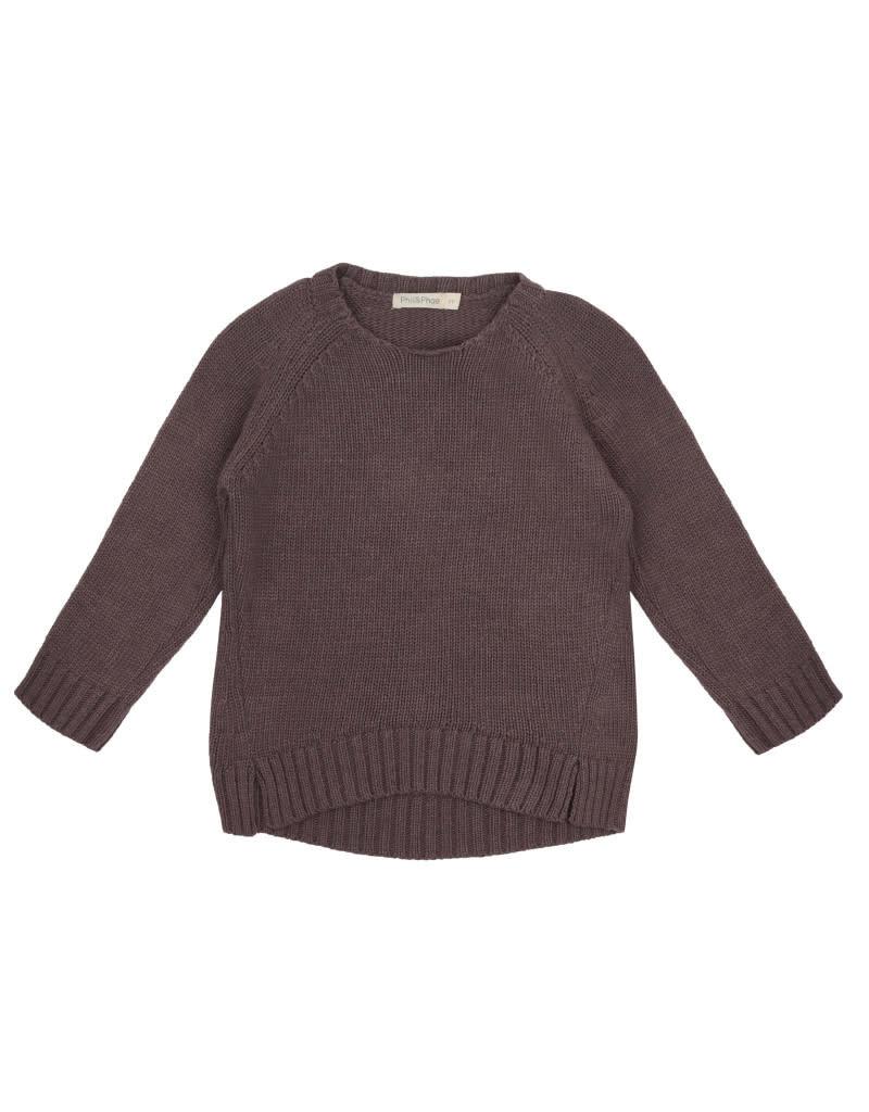 Phil & Phae Phil & Phae - cashmere blend knit sweater - dried lavender