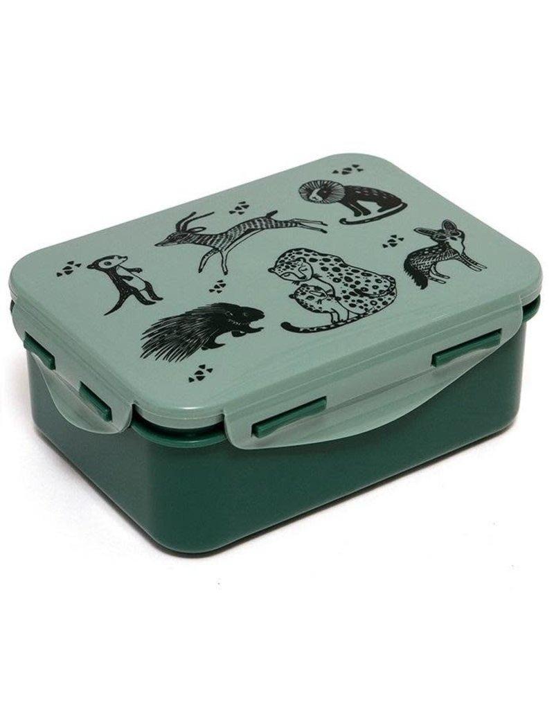 Petit Monkey Petit Monkey lunch box black animals salie