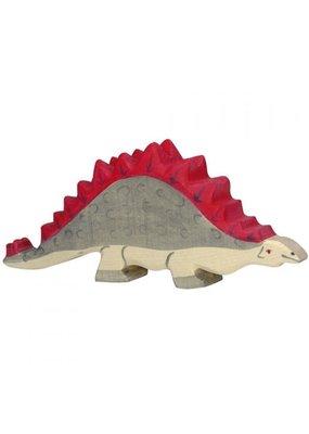 Holztiger Holztiger houten dinosaurus: Stegoraurus, 17x7x2 cm.