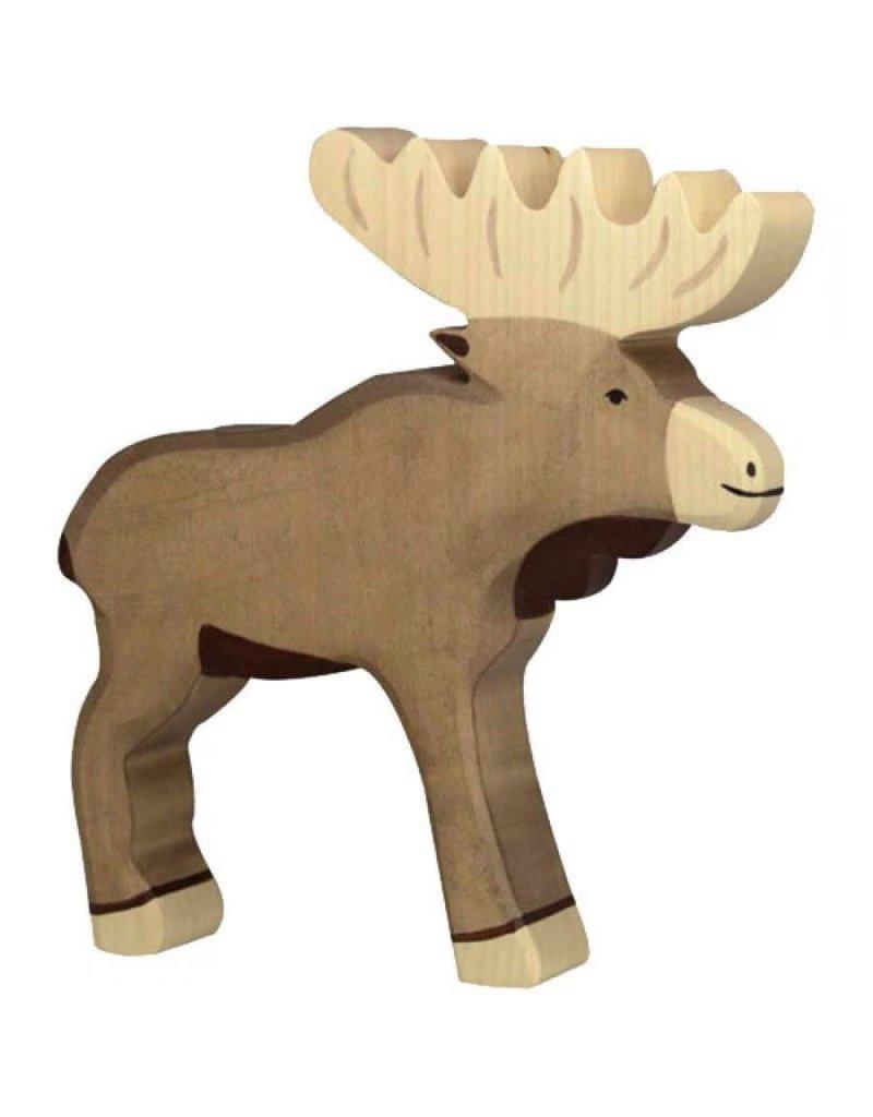 Holztiger Holztiger houten wildernis: eland, 19x3x18 cm.