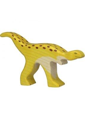 Holztiger Holztiger houten dinosaurus: staurikosaurus, 14x2,3x8 cm.
