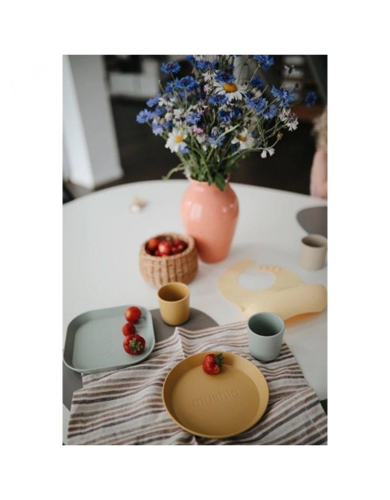 Mushie Mushie - kinderbeker - mosterd (2 st.)