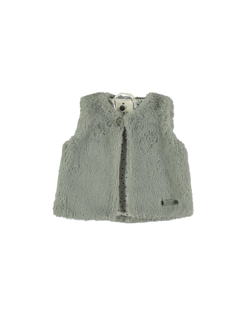 My Little Cozmo My Little Cozmo - Fur vest baby teedy - medium grey - 6 M