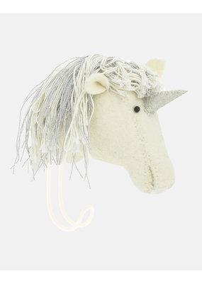 Fiona Walker England Fiona Walker - Silver mane Unicorn Head Hook