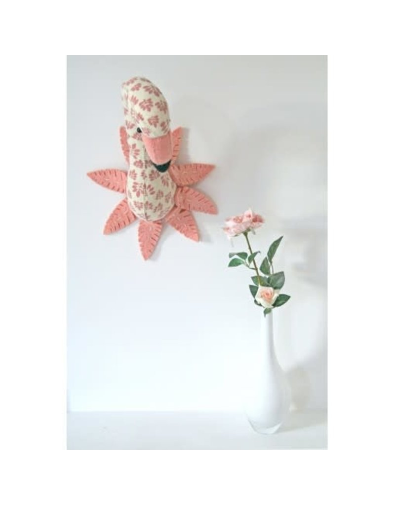 Fiona Walker England Fiona Walker - Printed Flamingo Head with Feathers (mini)