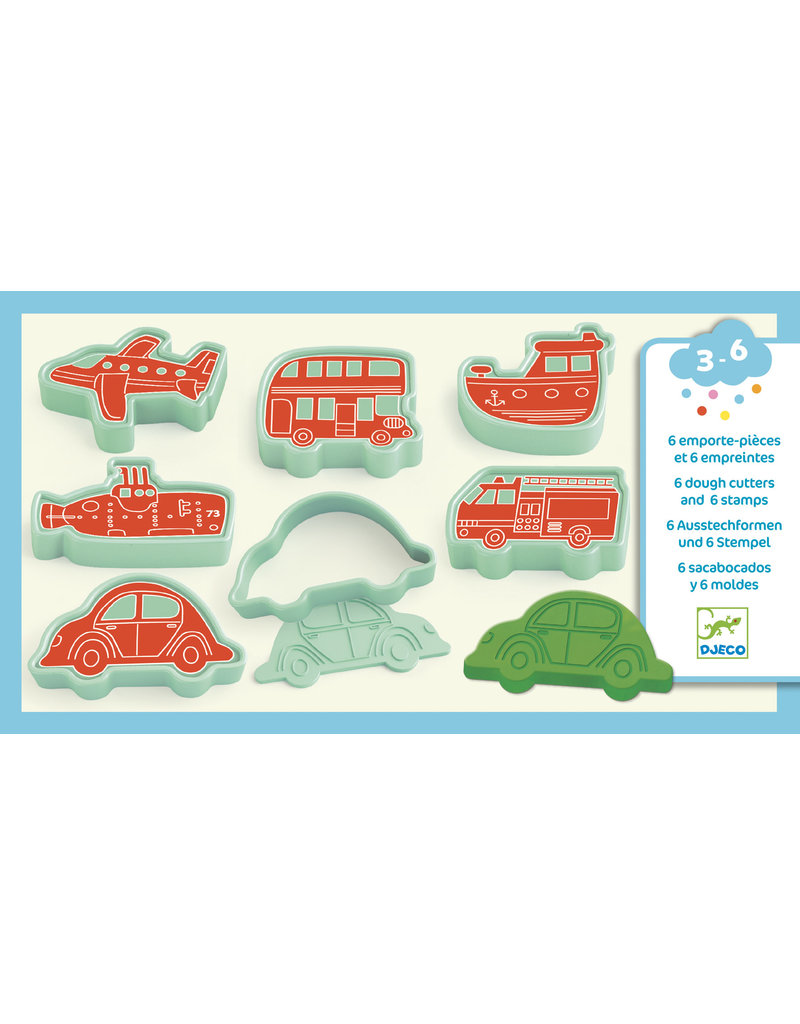 Djeco Djeco - Stempels en vormpjes Voertuigen