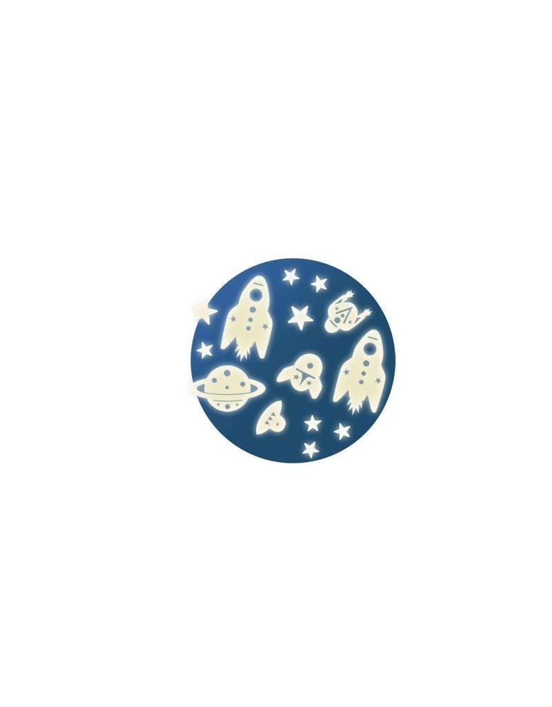 Djeco Djeco - Stickers glow in de dark Ruimtemissie
