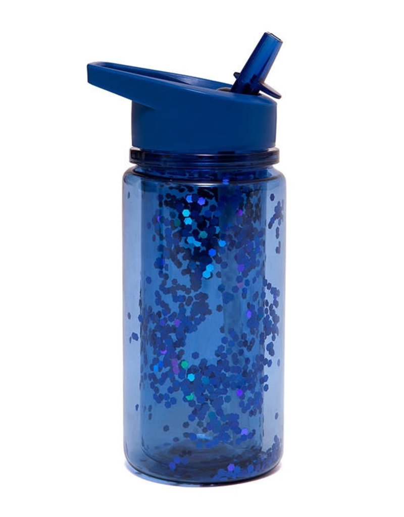 Petit Monkey - Drinking bottle glitter night blue