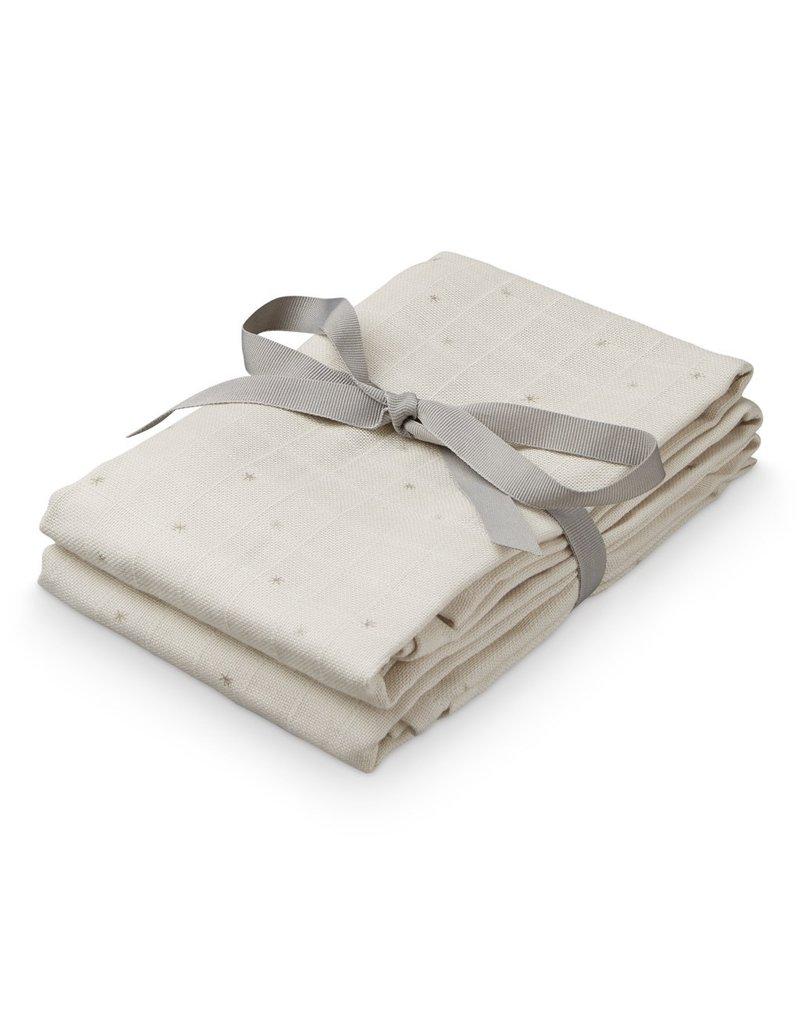 Cam Cam Camcam hydrofiel doek Etoile Sand set van 2