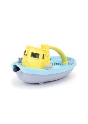 Greentoys Green Toys - sleepboot -  geel met blauw