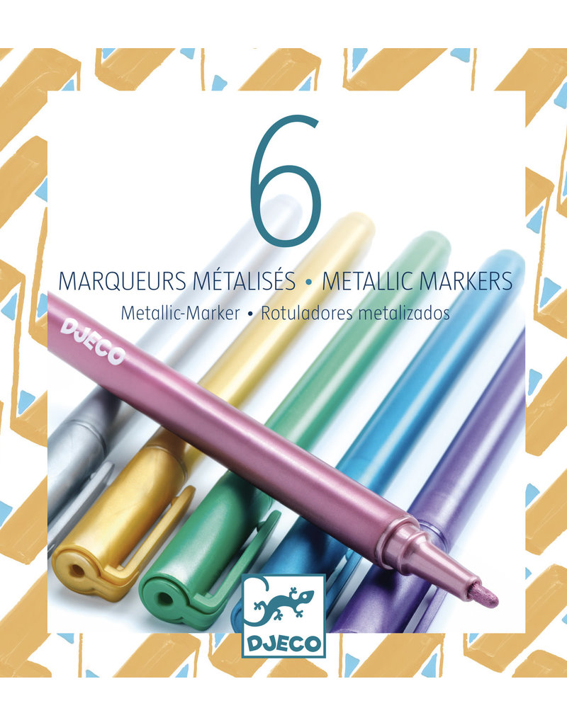 Djeco Djeco - Metallic markers 6 stuks