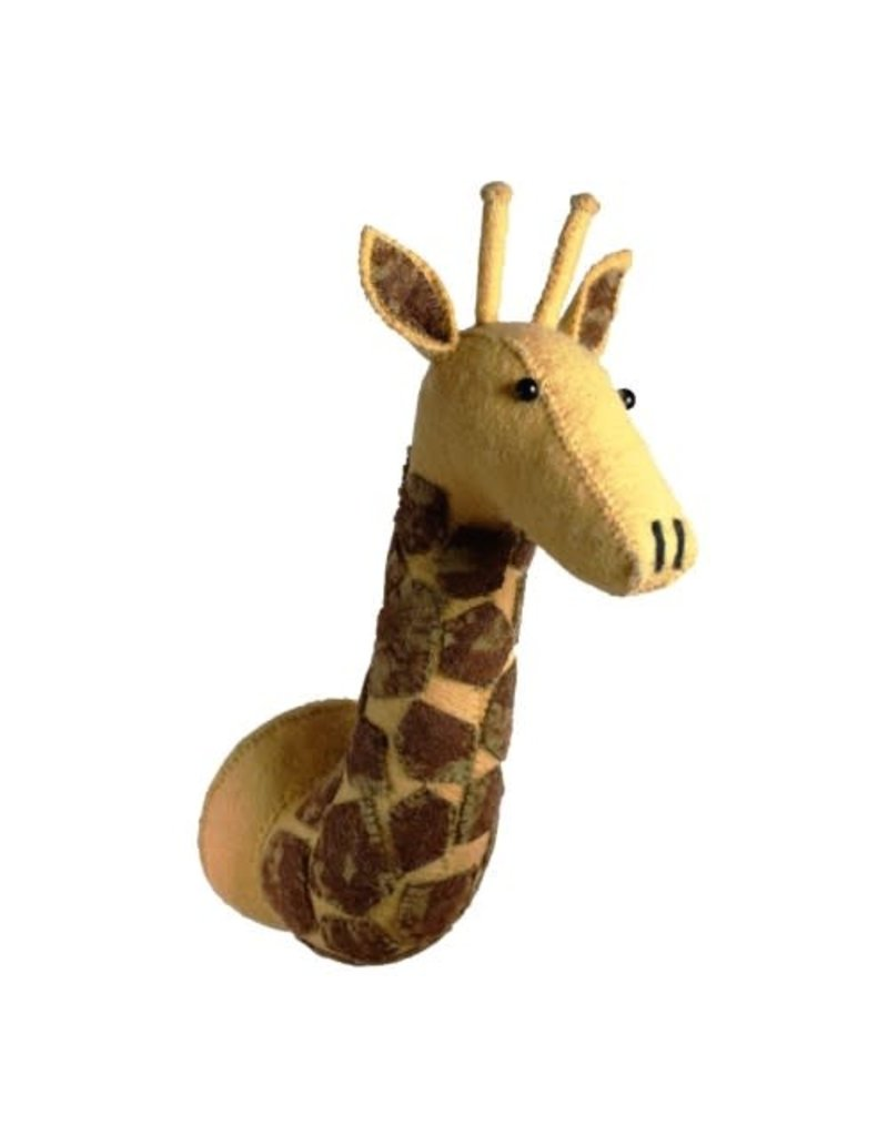 Fiona Walker England Giraffe head with tie dye patches