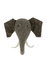 Fiona Walker England Elephant head with truck up ( semi)