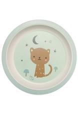 Petit Monkey Petit Monkey - Bamboo plate leopard mint
