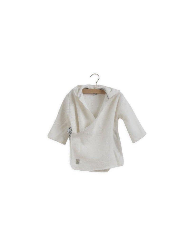 Nanami Nanami - Badjas organic print - 1-year Off white