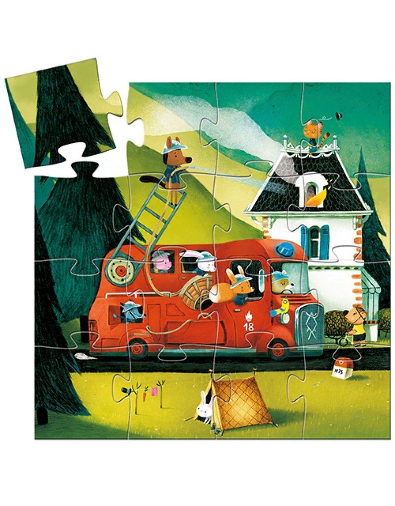Djeco Djeco - puzzel de brandweerwagen (16st)