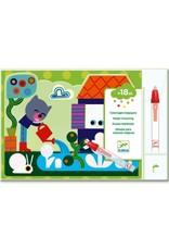 Djeco Djeco - Magische kleurplaten - in de tuin