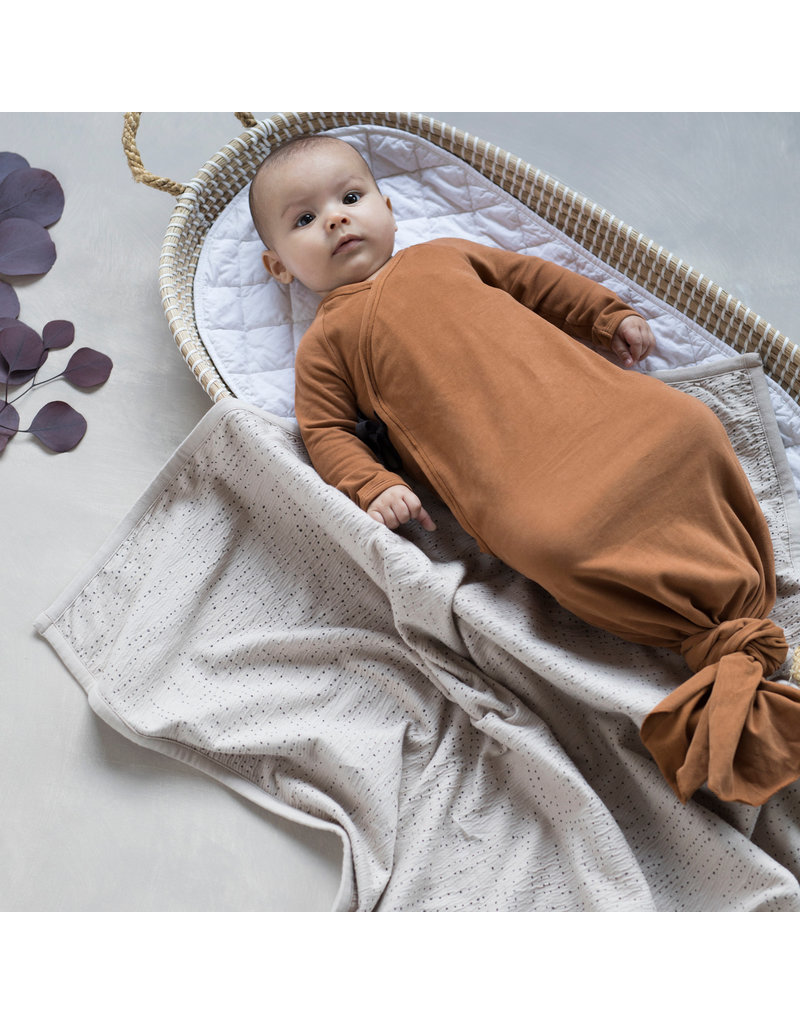 Phil & Phae Phil & Phae - Knotted baby gown essential - hazel S = maat 50/56