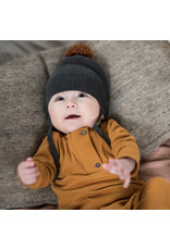 Phil & Phae Phil & Phae - Pompon baby hat - Charcoal