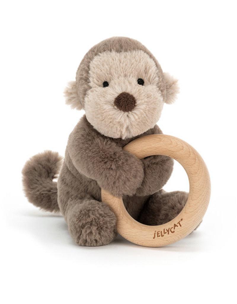 Jellycat Jellycat - Shooshu Monkey Wooden Ring Toy
