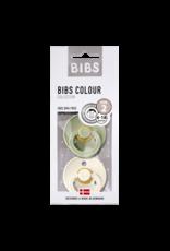 Bibs Bibs - Fopspeen natuurrubber - Ivory / Sage T2