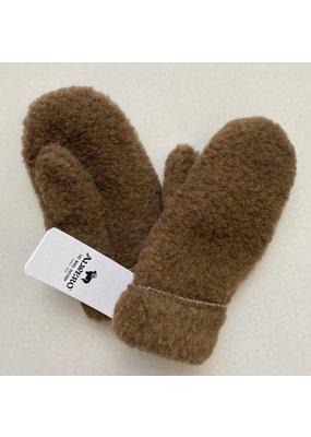 Alwero Alwero - 1371 Kinderhandschoenen Freeze kids wol - Kleur Bark maat M 8-10  jaar