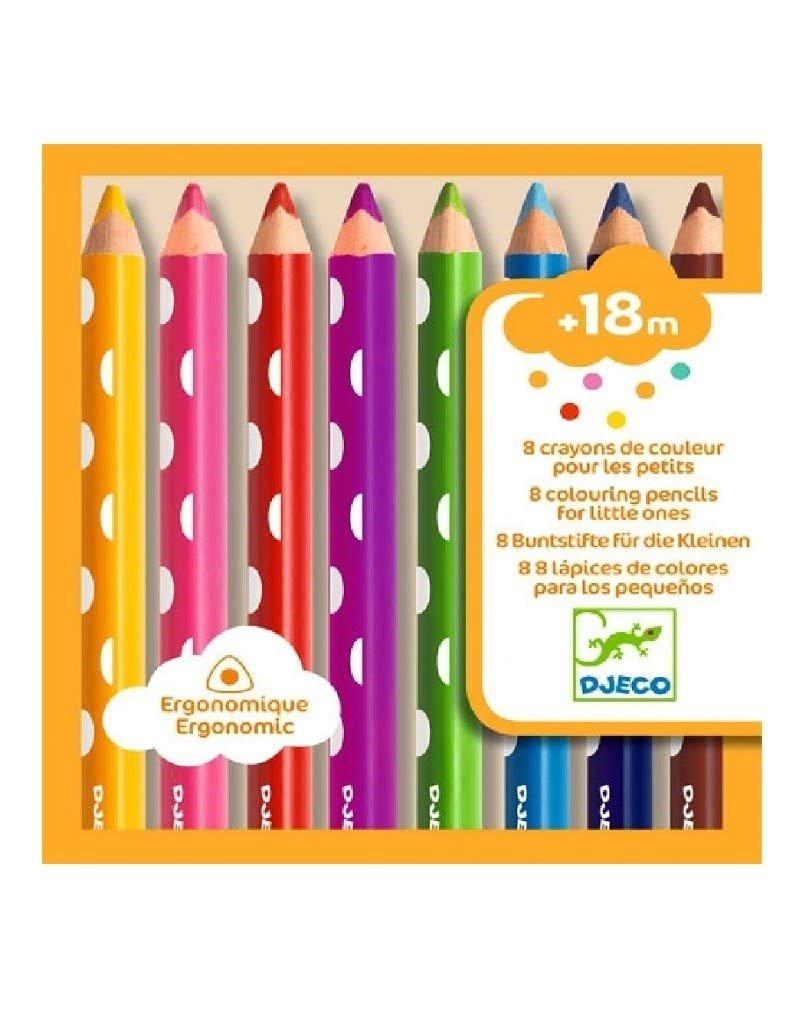 Djeco Djeco - Ergonomische kleurpotloden 8 stuks
