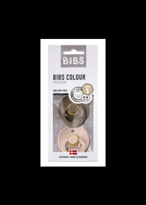 Bibs Bibs - Fopspeen natuurrubber - Blister Dark Oak/Blush T1