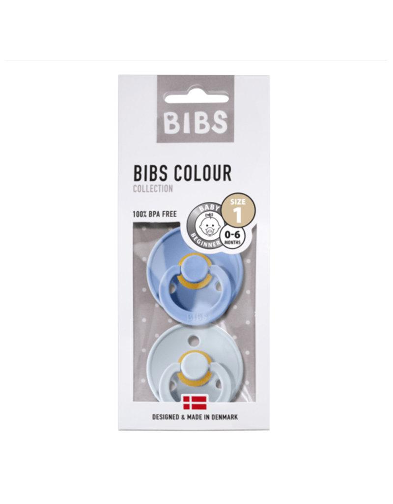 Bibs Bibs - Fopspeen natuurrubber - Blister sky blue/baby blue T1