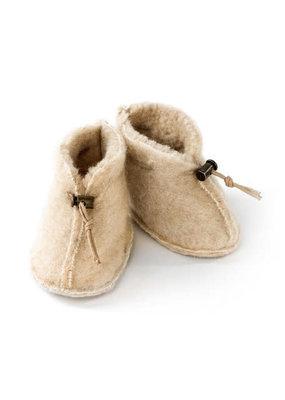 Alwero Alwero - 2402 Babyslofjes Emo wol beige maat S 0 - 6  mnd