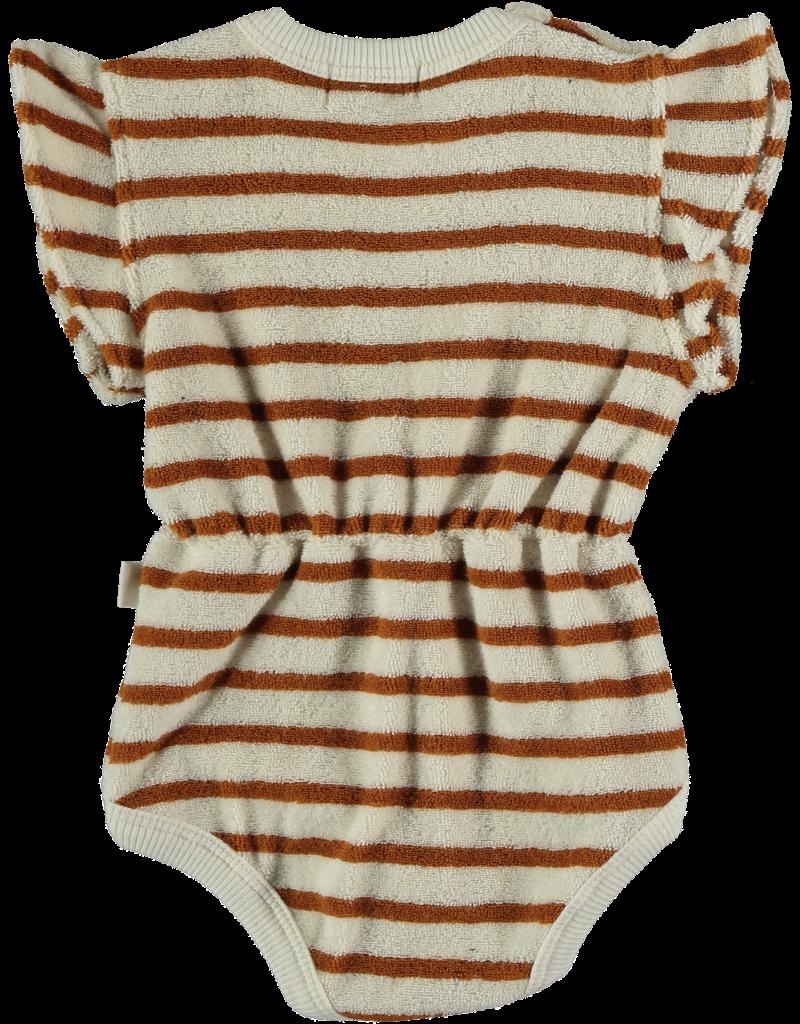 My Little Cozmo My Little Cozmo - Organic toweling baby bodysuit Peanut
