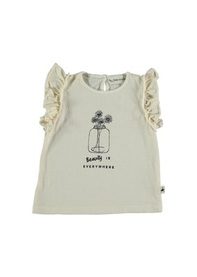 My Little Cozmo My Little Cozmo - Organic flame baby t-shirt Ivory