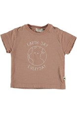My Little Cozmo My Little Cozmo - Organic flame baby t-shirt Terra Cotta
