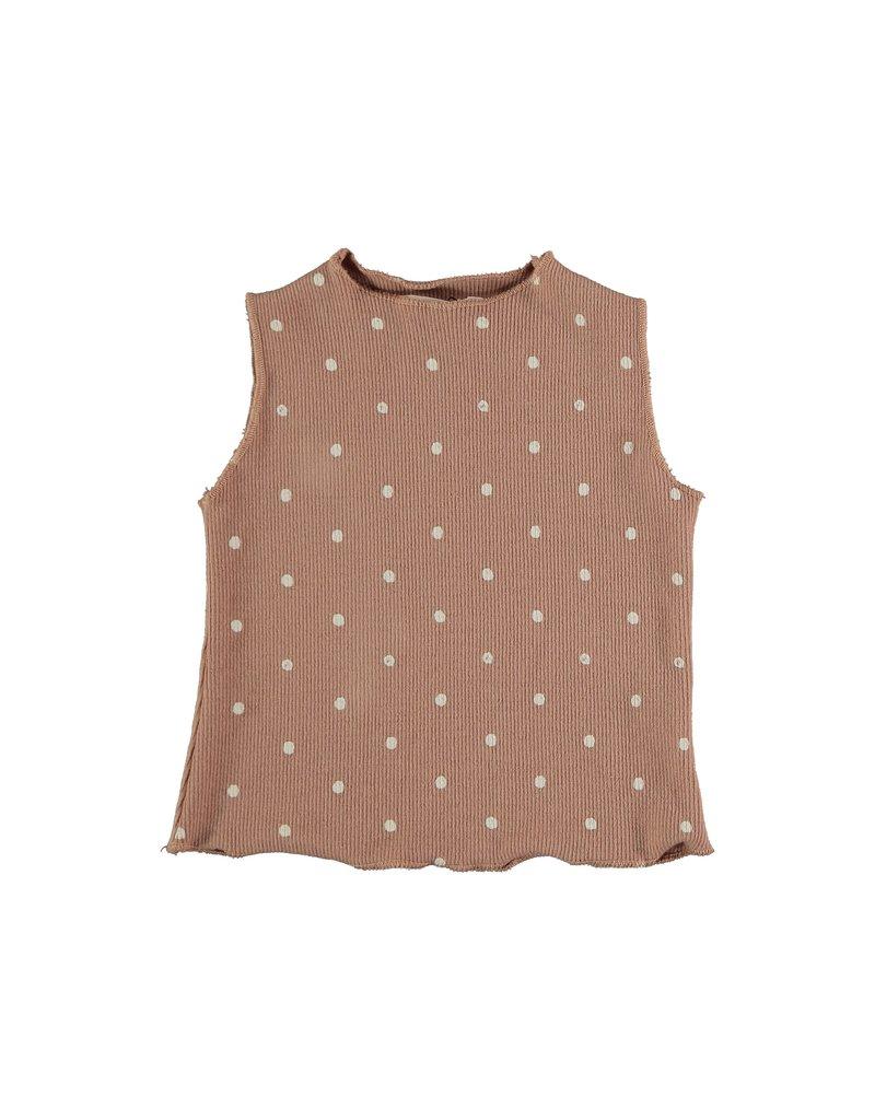 My Little Cozmo My Little Cozmo- Organic rib print baby t-shirt Terra Cotta