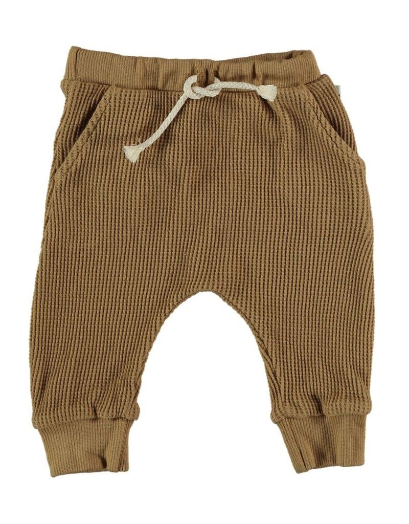 My Little Cozmo My Little Cozmo - Organic cuadrille baby trousers Peanut