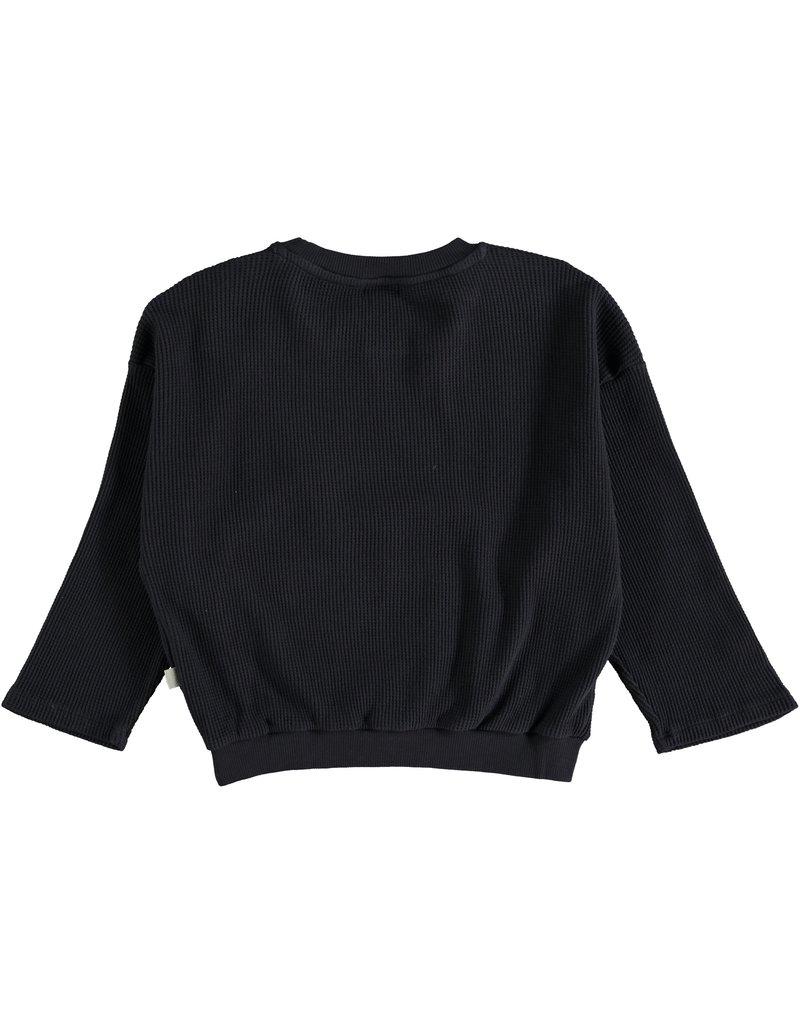 My Little Cozmo My Little Cozmo - Organic cuadrille kids sweatshirt Dark Blue