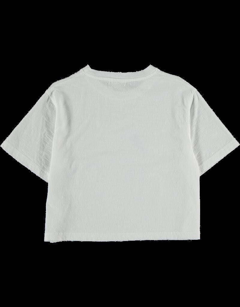 My Little Cozmo My Little Cozmo - Organic flame kids crop t-shirt white