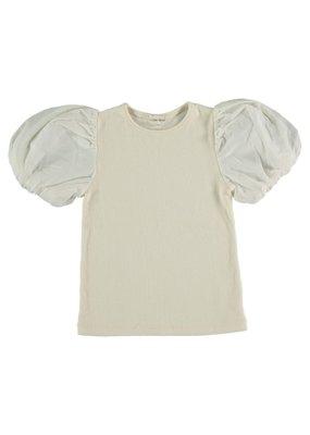My Little Cozmo My Little Cozmo - Organic rib kids t-shirt Ivory