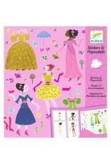 Djeco Djeco - Stickerset aankleedpoppen jurken