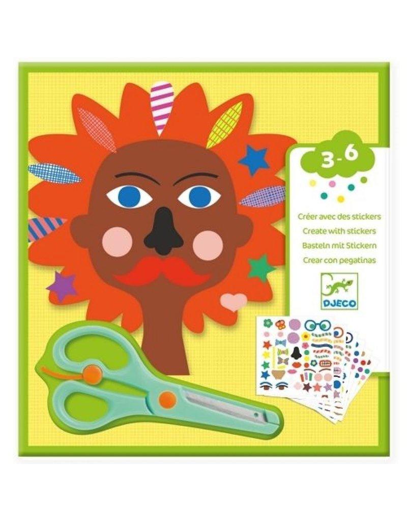 Djeco Djeco - Knuttsel set creëren met stickers - kapper