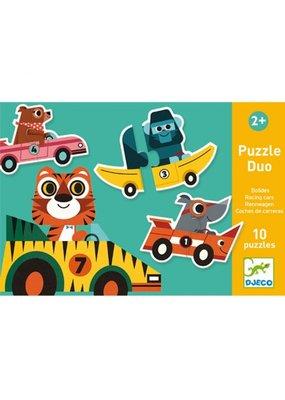 Djeco Djeco - Puzzel duo racewagens (10x2st)