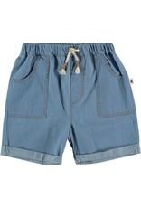 My Little Cozmo My Little Cozmo - Chambray kids bermuda short Blue